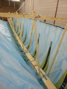 Epoxy flows from main inlet to enka hoses and compoflex