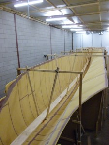 The building frame is a good support for the gangway