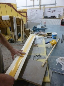 Grinding batten with 2 sided tape