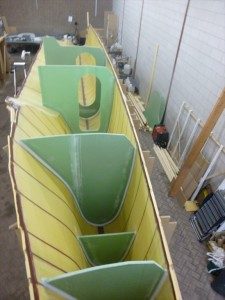The bulkheads in the port side hull