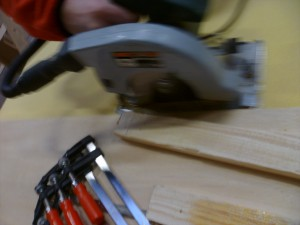 Sawing Corecell with circulair saw is easy