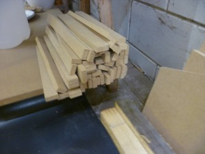Mixing sticks from waste MDF